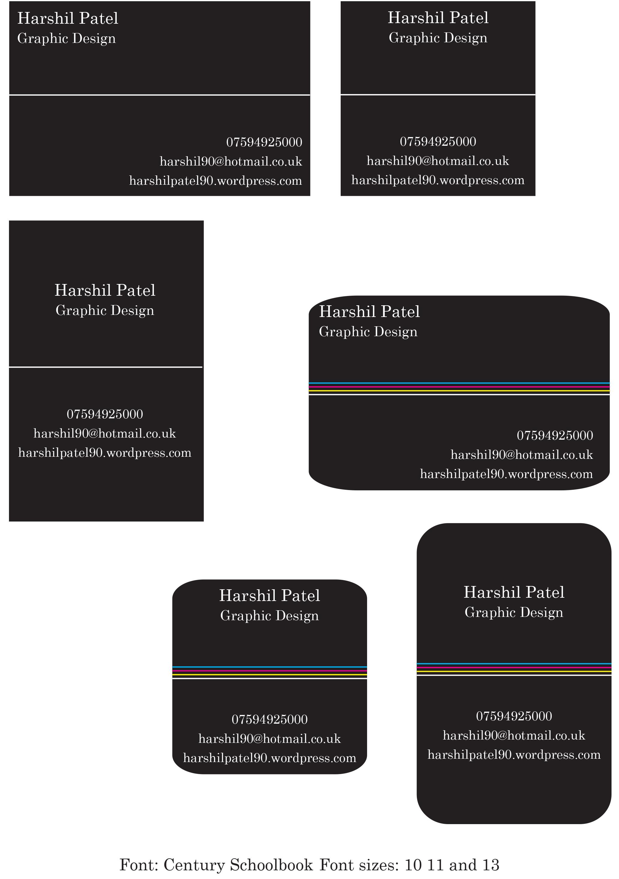 Business Card Design Ideas Project 4