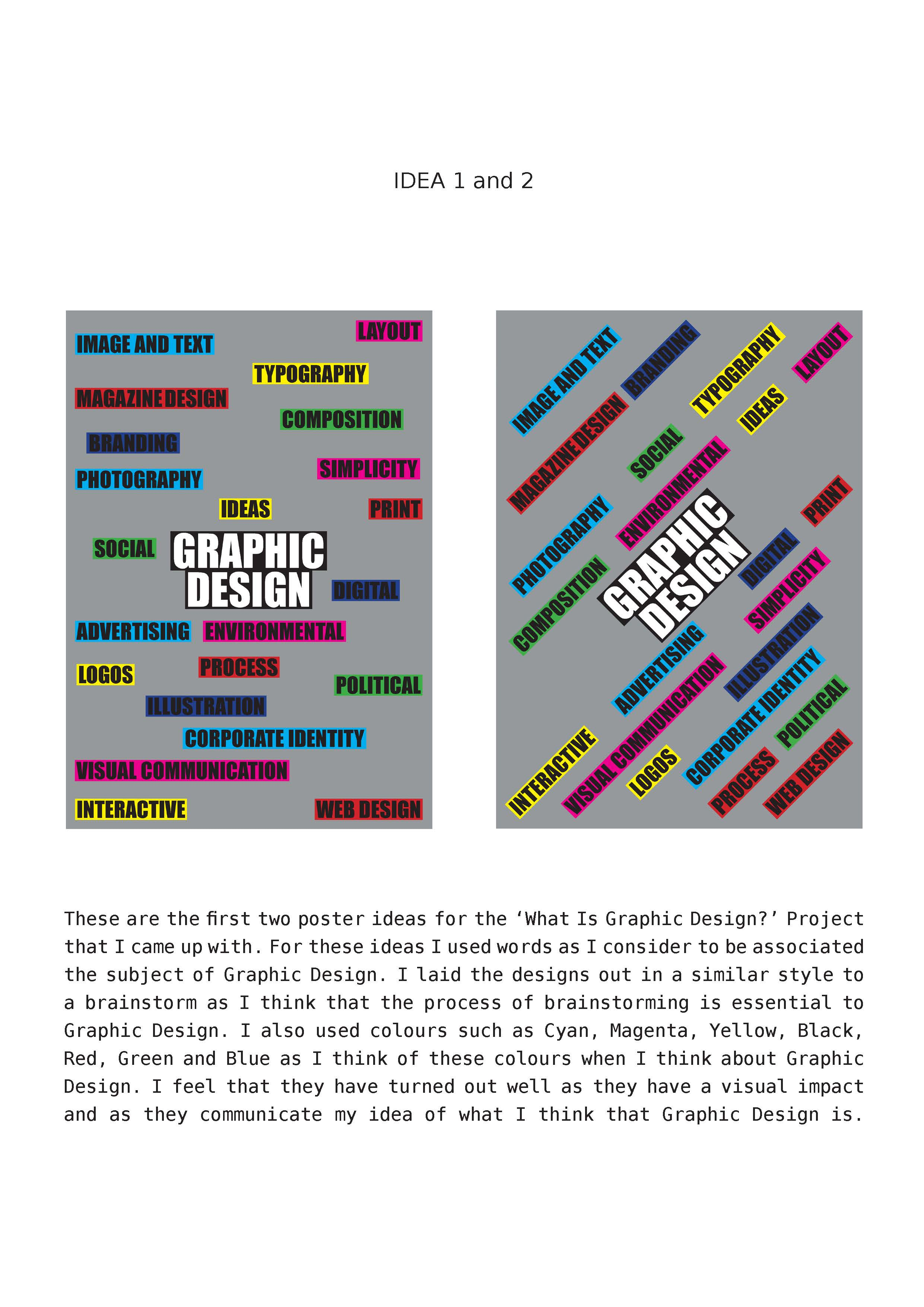 project 7 what is graphic design ideas development and final idea